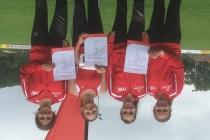Daria Oprean und die Mannschaft der LG Limes Rems jeweils 4te bei den Württembergischen Meisterschaften U14